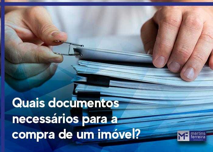 Quais documentos necessários para a compra de um imóvel?